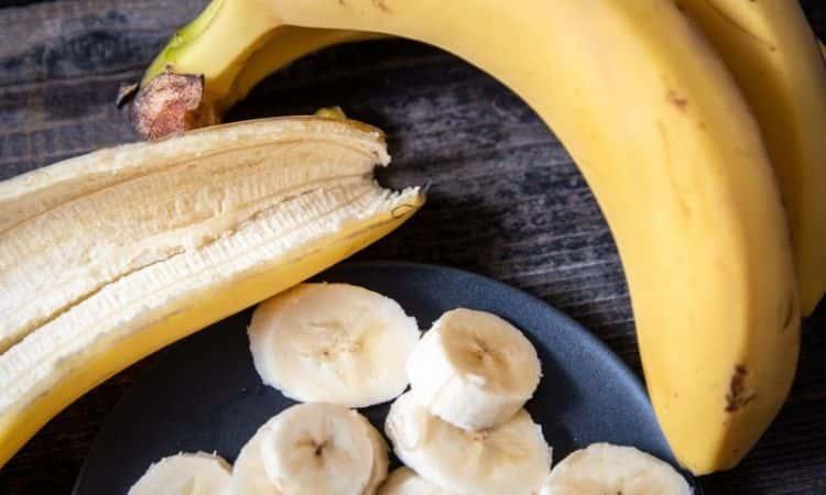 Banana peel with banana